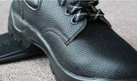 钢头工作防护黑色劳保鞋 耐酸碱透气防砸防刺防滑鞋