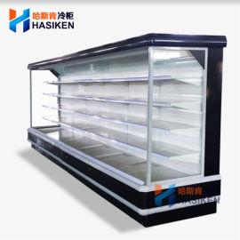 超市豪华立式冷藏风幕柜 上海厂家节能省电