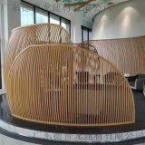 渡假酒店45°角拉彎造型鋁方通,半圓弧鋁方管吊頂