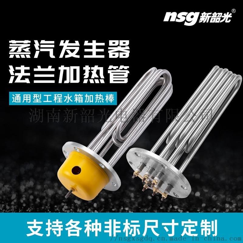 304不鏽鋼法蘭加熱管蒸汽蒸燙機電鍋爐發熱管