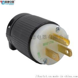 舞台灯光美式组装电源插头 NEMA美规工业插头
