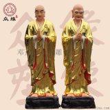 寺院背光三宝佛像 五方佛鎏金佛像 树脂雕像