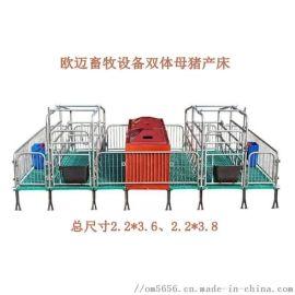 养猪设备厂家供应双体母猪产床产保一体可定做