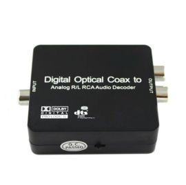 数字光纤同轴转模拟立体声2.1 杜比DTS SPDIF音频转换器解码器