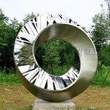 景區不鏽鋼抽象圓環雕塑