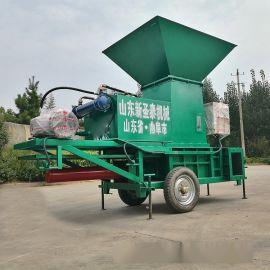 沈北方捆套袋包装机 秸秆方捆包装机生产视频