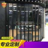 深圳商场透明拉闸门水晶折叠门铝合金水晶门