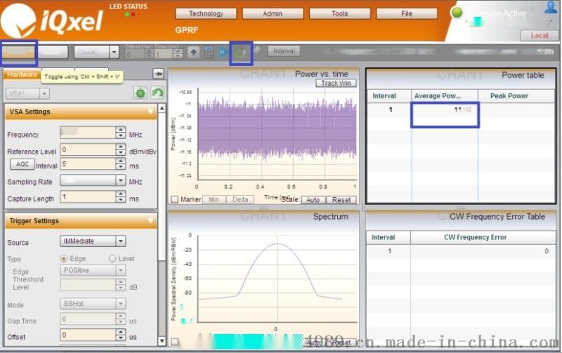 IQxel频谱测试测试
