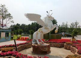 省三星级乡村旅游点设计制作的玻璃钢马雕塑