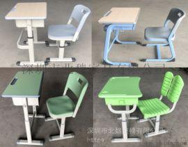 厂家直销升降学生课桌椅-单人塑钢课桌椅