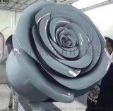 定制双曲玫瑰花造型铝单板金属工艺品