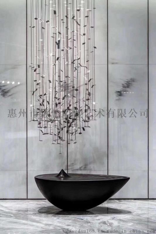 金属镂空浪花雕塑-室内雕塑