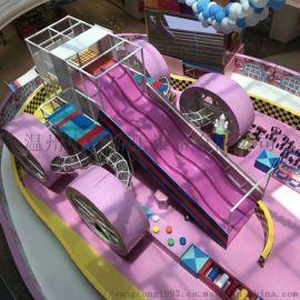 三层玻璃钢大滑梯 室内儿童淘气堡设备彩色滑滑梯