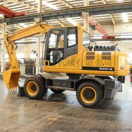 全新小型轮式挖掘机 100型90型山地越野四驱轮挖