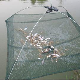 捕鱼虎口网养鱼网箱龙虾抓鱼笼