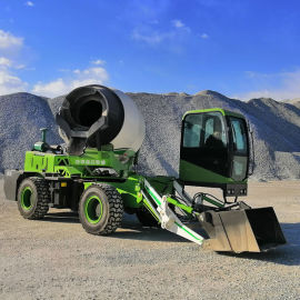 小型自动上料混凝土搅拌车 水泥搅拌车移动卸料