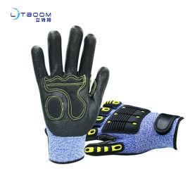 减震机械抗冲击防切割防撞安全防护手套