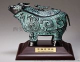 仿古青銅器開業擺件 西安銀行開業青銅鼎擺件