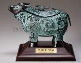 仿古青铜器开业摆件 西安银行开业青铜鼎摆件