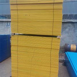 广东一建全钢爬架网 黄框绿片 国凯