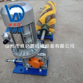 水泥廠耐高溫電動毛刷清掃器