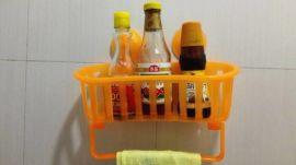 地攤大號多功能真空吸盤廚衛雜物置物籃收納籃置物架批發