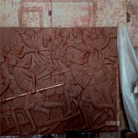 **战士浮雕雕塑 室内人物浮雕雕塑 玻璃钢厂家