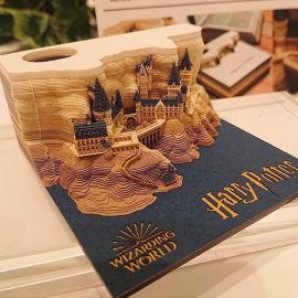 创意霍格沃兹城堡哈利波特便利贴立体便签本生日礼物