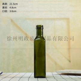 橄榄油瓶圆形瓶墨绿瓶褐色瓶核桃油瓶香油瓶料酒瓶