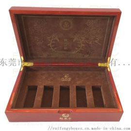 保健品礼品盒/实木喷漆/**定制保健品包装盒