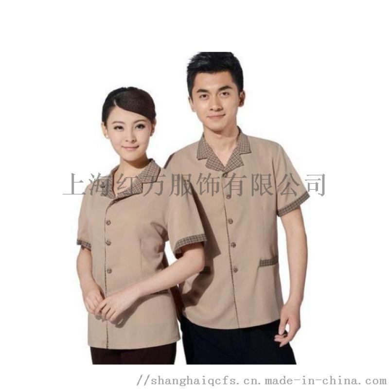 上海紅萬物業服裝 男女保潔服定製 定製