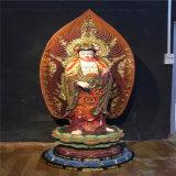貼金木雕西方三聖,昌東佛像木雕西方三聖廠家