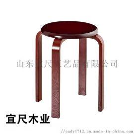 实木凳子时尚创意客厅小椅子家用高圆凳