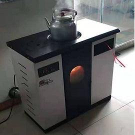 新款生物质颗粒取暖炉设备 农村家用暖气片颗粒炉
