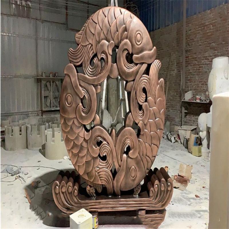 江门玻璃钢景观造型雕塑如意造型雕塑