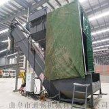 通暢粉煤灰中轉設備 鐵運集裝箱卸灰機 無塵卸車機