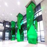 室內中庭包柱鋁單板 木紋造型包柱鋁單板