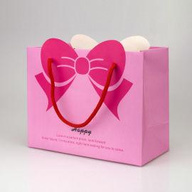 厂家现货手提袋 时尚蝴蝶结礼品袋 定制创意手提纸袋 可设计LOGO