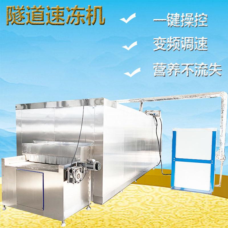 海产品挂冰速冻设备 海鲜隧道式速冻机