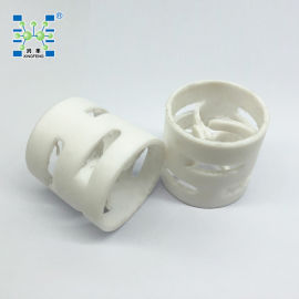 纯白 四氟鲍尔环填料PTFE聚四氟乙烯鲍尔环填料