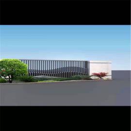 传统木纹外墙铝格栅型材 隔断铝合金方管格栅厂家