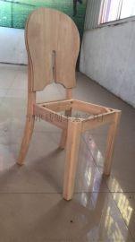 创未来实木白茬椅子A欧式橡木餐桌椅