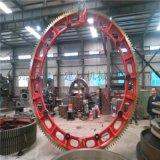 大型對開式鑄鋼水泥迴轉窯大齒輪