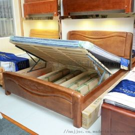排架气压高箱床 北海铝木架家具 梧州合箱浮线床