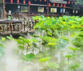 西安锦胜花园景区人造雾系统 高压水景观喷雾设备安装