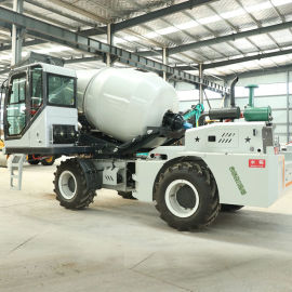 自上料混凝土搅拌车 270°旋转水泥搅拌罐运输车
