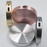 圆形充电宝铝合金外壳 圆形移动电源厂家直销