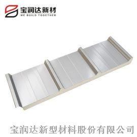 养猪场防腐铝箔屋面板 聚氨酯彩钢夹芯顶板厂家