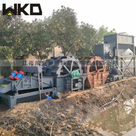 洗砂机生产厂家 大型轮斗洗砂机 整套鹅卵石洗砂设备