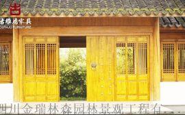 仿古門窗實木材質門窗 成都漢蒼mc-1235門窗